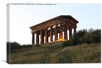 Penshaw Monument Steps, Canvas Print