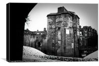 Newcastle Black Gate, Canvas Print