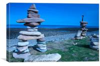 Holy Island Rock Sculpture, Canvas Print