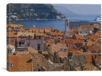 old town roofs, Canvas Print