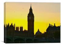 BIG BEN ON SUNSET, Canvas Print