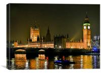 WESTMINSTER BY  NIGHT, Canvas Print