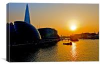 RIVER THAMES SUNSET, Canvas Print