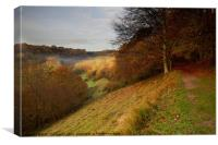 View into River Bybrook Valley, Canvas Print