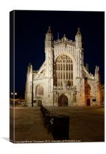 Bath Abbey at Night, Canvas Print
