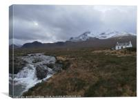 Cottage on Skye, Canvas Print