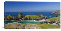 Cornish panorama, Canvas Print