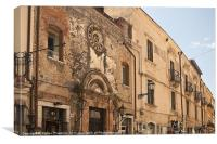 Taormina architecture, Canvas Print