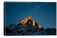 Sun on the matterhorn, Canvas Print
