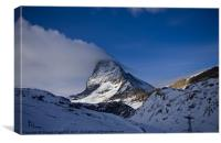 Snow cloud off the matterhorn, Canvas Print