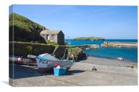 A view across Mullion Cove, Canvas Print