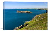 The Cornish coastline, Canvas Print