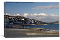 Fading light at Lyme Regis., Canvas Print