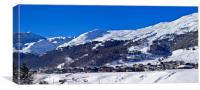 Panoramic Livigno, Canvas Print
