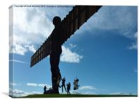 Angel of the North Fun, Canvas Print