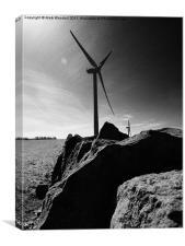 County Durham Windfarm Burnhope, Canvas Print