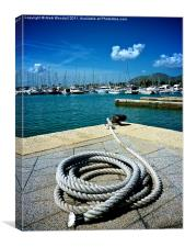 Port and a Rope, Canvas Print