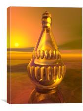 Sunset Decanter, Canvas Print