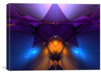 Inside The Open Cube X, Canvas Print