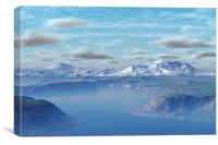 The Gateway Mountains, Canvas Print