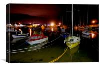 Stonehaven Harbour @ Night, Canvas Print
