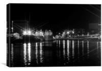 Late Night @ the Harbour, Canvas Print
