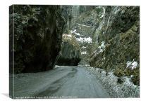Romanian Mountain Pass, Canvas Print