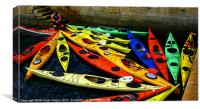 Canoes Galore, Canvas Print