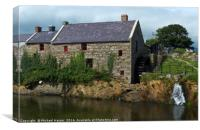 The Corn Mill at Annalong Harbour Mourne, Canvas Print