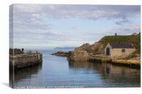 The harbor at Ballintoy in Northern Ireland, Canvas Print