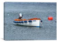 A Boat on its Mooring near Donaghadee, Canvas Print