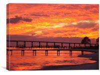 Navarre Sunset, Canvas Print