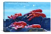 Lobster on the Rocks, Canvas Print