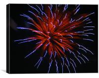 Fireworks, Canvas Print