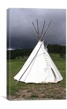 Tepee in Montana, Canvas Print