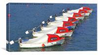 seven boats, Canvas Print