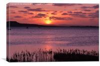 Sunset in mudeford Dorset, Canvas Print