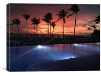Caribbean Sunset , Canvas Print