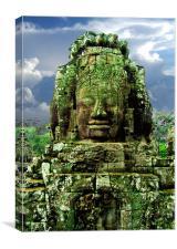 Bayon Temple Stone Faces 4, Canvas Print