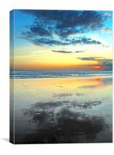 Blue Bali Sunset, Canvas Print