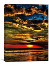 Painted Bali Sky, Canvas Print