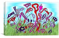 Ukranian Wrench Garden, Canvas Print