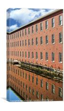 Boott Cotton Mill Reflection, Canvas Print