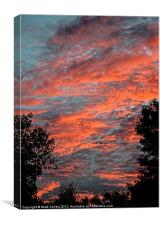 Flaming Sky, Canvas Print