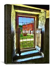 Stone Barn Window, Canvas Print