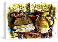 Early Colonial Still Life, Canvas Print