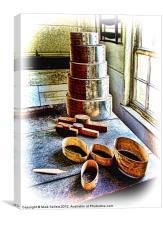 Shaker Box Making Vignette, Canvas Print