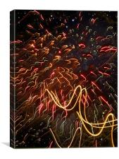 Fireworks Against the Stars, Canvas Print