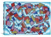 Beaded Glass Window, Canvas Print