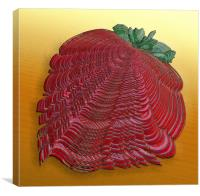 Large Strawberry Scallop, Canvas Print